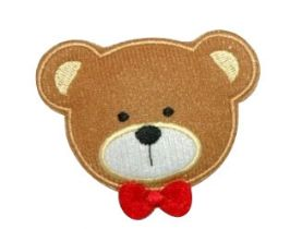 Large Teddy Iron-on Applique in 4 Colours